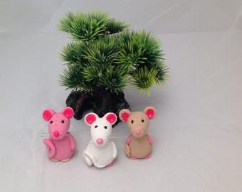 Polymer Clay mice figurines,cake toppers,handmade figurines,vinyl cheese tray,rat,mouse,wine