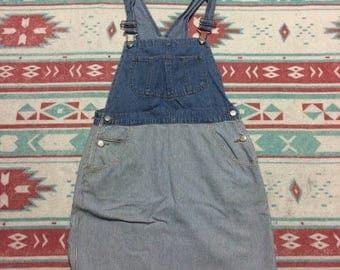 Vintage Arizona Jean Company Denim Overall Skirt