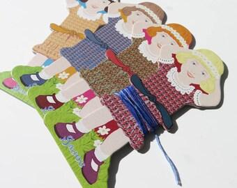 Floss Bobbins | Thread Bobbin, Embroidery Floss Holder, Floss Organizer, Quilt Binding Holder - Maison Sajou Girls