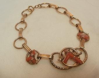 Gold Filled Coral Bracelet