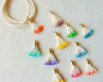 Mini Tassels, 2pcs, Jewelry Making Tassels, Mini Tassels Charms, Cotton Tassels,Handmade Tassels