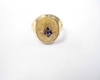 1 Goldplated Size 7 Masonic Ring