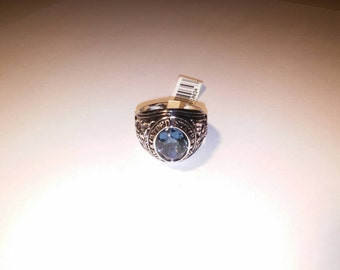 1 Silverplated U.S. Airforce Ring Size 13