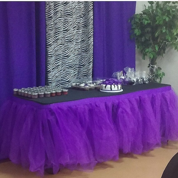 Tulle Tutu Table Skirt Custom Made You Pick The Colors