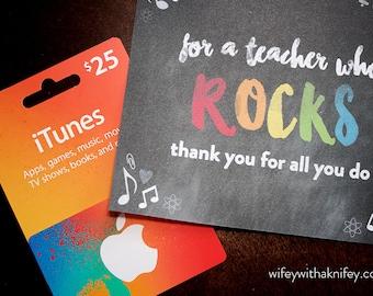 "Teacher ""Rocks"" Thank You Card"