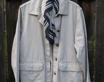 SALE Woolrich Field Coat women's Khaki Beige Cotton Duck cloth  Size  XL 44'' Chest
