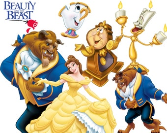 BEST collection of 180 Disney's Beauty and the Beast Clipart - 180 high quality BEAUTY and the BEAST clipart - 180 beautiful Graphics !!!