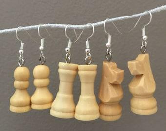 Three Pairs Chess Earrings