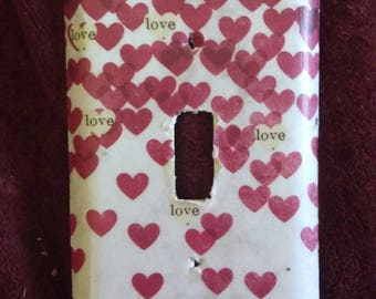 Love light switch plate