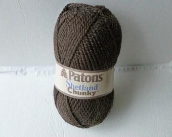 Yarn Sale  -  Earthy Brown Shetland Chunky Yarn by Patons