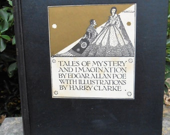 Vintage 1939 Copy of Tales of Mystery and Imagination by Edgar Allan Poe Book