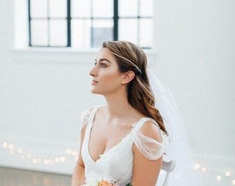 Crystal Bridal Headband, Crystal Bridal Circlet, Boho Bridal Headband, Rhinestone Headband, Crystal Bridal Headpiece, Crystal Boho Circlet