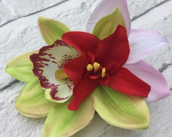 Rockabilly Pinup 50's Orchid Hair Flower Clip