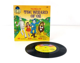 The Wizard of Oz Book and Record 1978