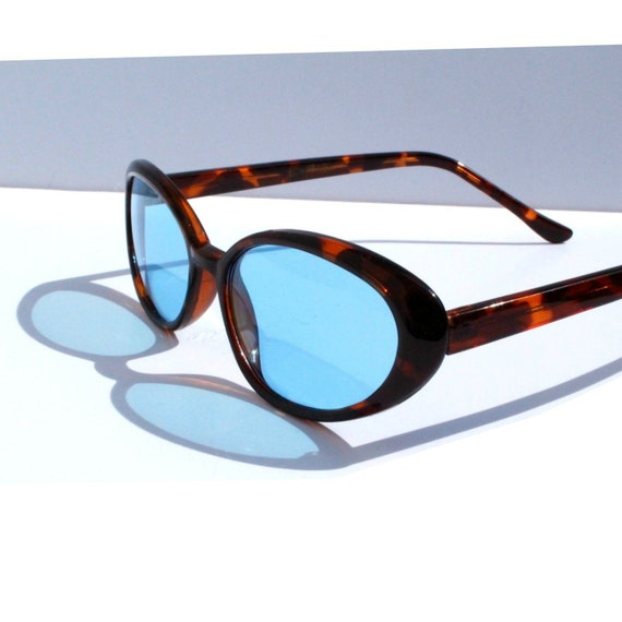 Blue Lens Cat Eyes, Tortoise Shell Cateyes, Cateye Sunglasses, Oval Cat Eye Glasses, Catseye Eyeglasses, Vintage Gift for Her, Best Friend