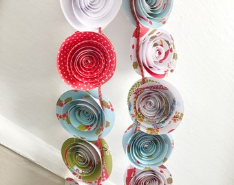 Christmas Garland winter garland holidya garland Home Decor Paper Flower Garland