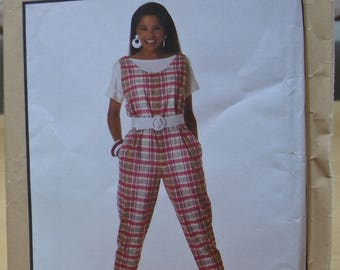Free shipping! Simplicity 9486 jumpsuit and top sewing pattern from 1990 sizes 8 10 12 UNCUT