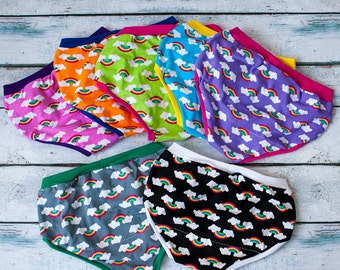 Custom Rainbow Undies for girls and boys- 6 styles
