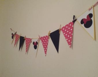 Minnie Mouse Banner- Minnie Mouse Birthday-Minnie Mouse Photo Prop Banner-Red & Yellow Banner