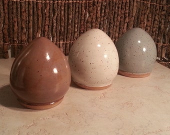 Custom - Stoneware Pottery Cremation Urn - Wheel Thrown Clay - Keepsake Cremains Jar For Family Member or Pet Ashes - EGG