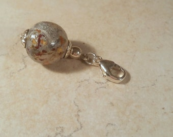 Custom Keepsake / Memorial Charm made from your Flower Petals or loved one's Hair or Pet fur - ROUND Charm