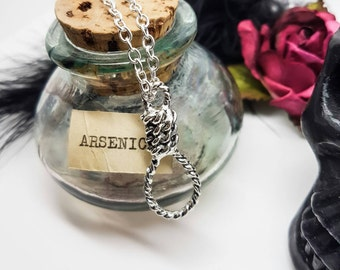 Hangman's Noose Necklace, hanged, execution, executioner, Albert Pierrpoint, Salem Witch trials, witches, crime, punishment