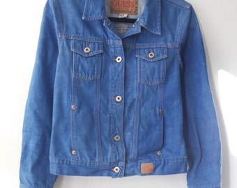Guess Cropped Jean Jacket Size Medium 1990s