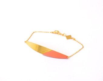 INTI bracelet, élégant, gold and lambskin leather