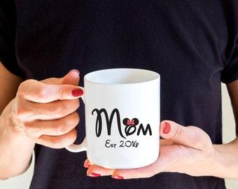 Disney Mom Mug, Minnie Ears, Custom Mug, Disney Mug, Funny Coffee Mug, Gift for Mom, Christmas Gift,  Disney Lovers Gift, Mothers Day Gift