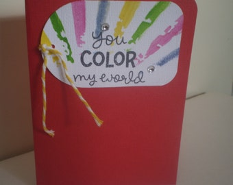 Red Handmade Greeting Card - Every day Card