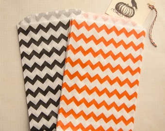 """Batch of covers paper """"zigzags"""" set of 10 - Orange and black Halloween special"""