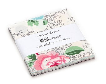 """Moda-Meow or Never Charm Pack by Erin Michael 5""""x 5"""" Pre~Cut Squares"""
