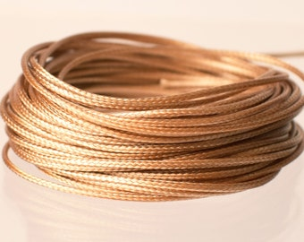 Chinese Knotting String - Nylon Cord - Shamballa Cord - Macrame Beading - Kumihimo String - Braided Cord - Golden Brown