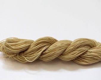 Beeswax waxed cotton thread - Natural 12/9