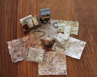 Miniature old maps set 3