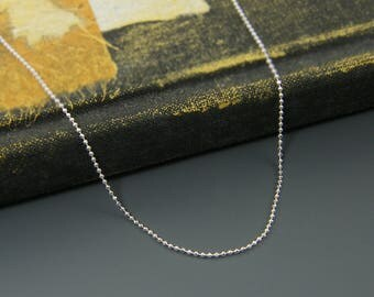 Sterling Silver Ball Chain, Short Silver Chain, 18 Inch or 20 Inch Silver Necklace Chain |CC