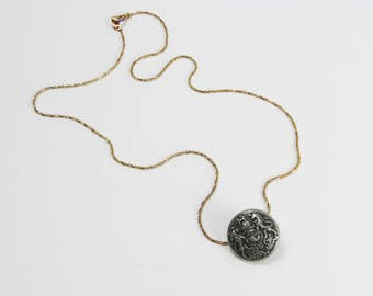 Grunge Collection's 'Vintage Button Pendant'