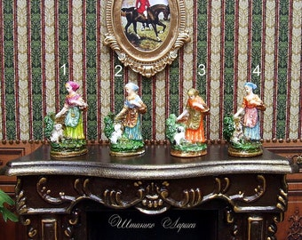Miniature Figurines . Hand Painted.  Scale 1:12