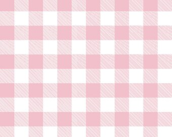 Gingham Pink Fabric by the Yard