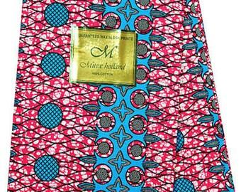 African Print Mitex Holland Block Fabrics For Dresses& Craft Making /African Ankara Print Cotton Craft Fabric Sold By Yard