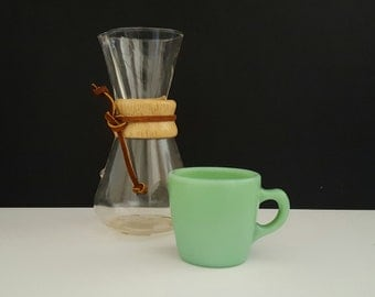 Fire King Jadeite Restaurant Ware Heavy Mug Coffee Cup G215 6 Oz. 1940s