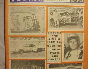 Fall-Winter 1970-1971 Cavalcade of Auto Racing Magazine Action Monthly , NASCAR Stock Car Racing Magazine with 95 pages of Text & Pictures