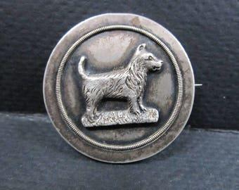 Scottish TerrierDog English Pin Brooch