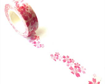Washi Tape Pink Flowers
