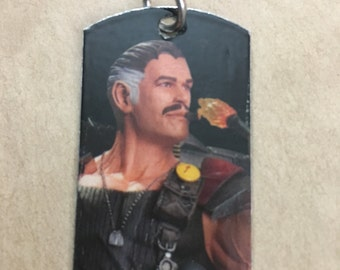 Comedian Watchmen Upcycled Comic Book Dog Tag, Includes Necklace or keychain. Comedian dog tag. Comedian keychain.