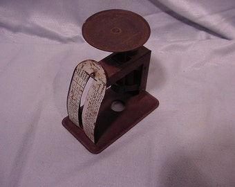 Tiny Antique Office Postals Scale Lorraine Metal Manufacturing Co. NY, NY