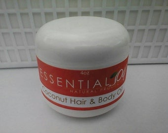 Coconut Hair and Body Oil, 4 oz. Hair Oil, Hair Conditioner, Natural Hair Care, Coconut Hair Oil, Curly Hair, Skin Care