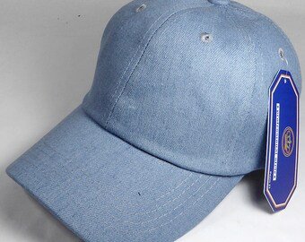 Your Print Denim Dad Hat Baseball Cap Twill 6 Panel Custom Embroidery Low Profile Pro Style