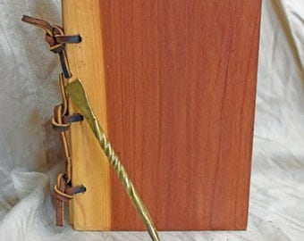 Exotic aromatic Cedar wood Wax Tablet with bronze stylus