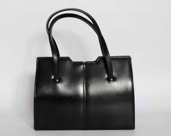 Authentic vintage 1950s handbag, Kelly bag, Made in England